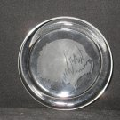 NEW ETCHED OLD ENGLISH SHEEPDOG GLASS PAPERWEIGHT