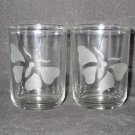 NEW ETCHED BUTTERFLY GLASS VOTIVE CANDLEHOLDERS