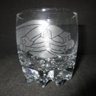 NEW ETCHED SNAKE DRINKING GLASS TUMBLER
