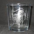 NEW ETCHED ZODIAC LEO LION 10 OZ DRINKING ROCKS GLASS TUMBLER