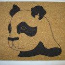NEW HANDPAINTED PANDA CORK ON TILE TRIVET