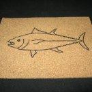 NEW HANDPAINTED TUNA FISH CORK ON TILE TRIVET