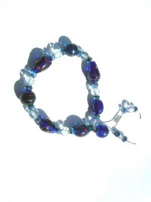 Blue Caramic Bracelete