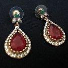Drop Garnet Earring Set