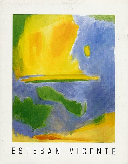 ESTEBAN VICENTE Paintings Abstract Expressionism Minimalism Exhibition Ephemera