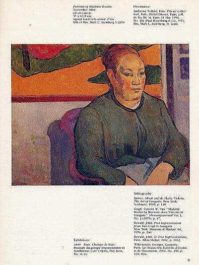 IMPRESSIONISM POST IMPRESSIONISM Gauguin van Gogh Cezanne Art Museum Bulletin