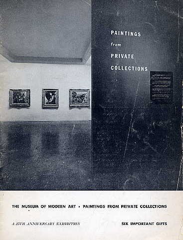 MOMA PAINTINGS Collections Anniversary Exhibition MUSEUM OF MODERN ART Catalog Bulletin