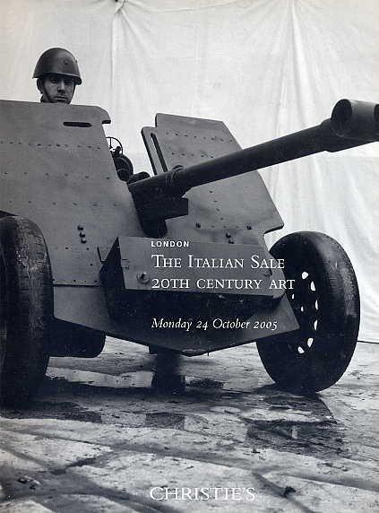 Modern Italian ART BOOK Christie's CHIA Marini FONTANA de Chirico MERZ Paladino Pomodoro ITALY