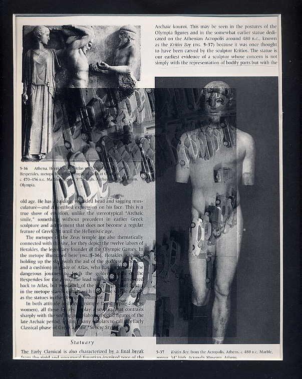 ORIGINAL ART Found Object Photography Male Nudes West End St. Louis Surrealism