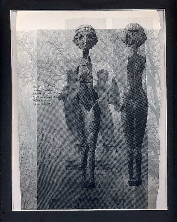 Quicksilver Babies ORIGINAL ART St. Louis Surrealism  Angel Found Object Photography Egyptian Figure