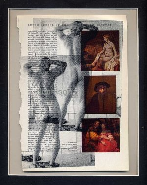 Original ART Some Kind of Isolation Gay Colour Found Object Male Nude Photography Collage Rembrandt