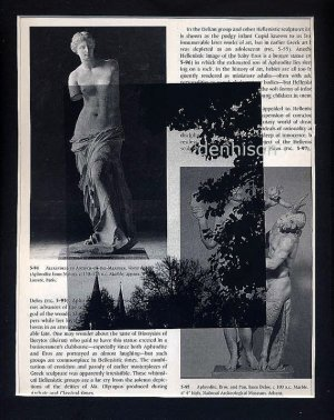 Fetching Home a Bride ORIGINAL ART Found Object Photography Nude Faun Greek Sculpture