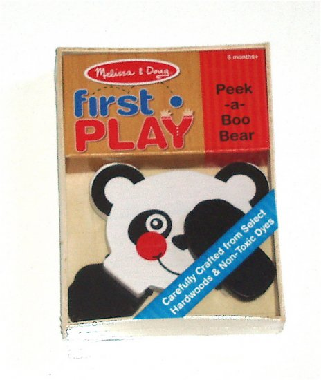 Melissa and Doug First Play Baby Infant Panda toy NIB
