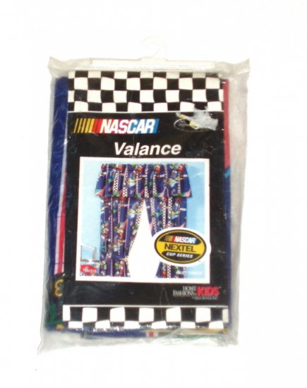 NEW Nascar Window Curtain Valance Boy Race Fan