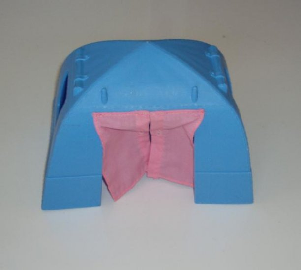 Fisher Price Doll House Dollhouse Tent camping EUC