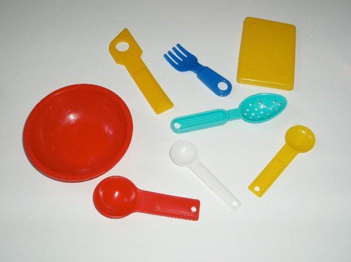 Lot childs Kitchen Pretend Preschool Dishes