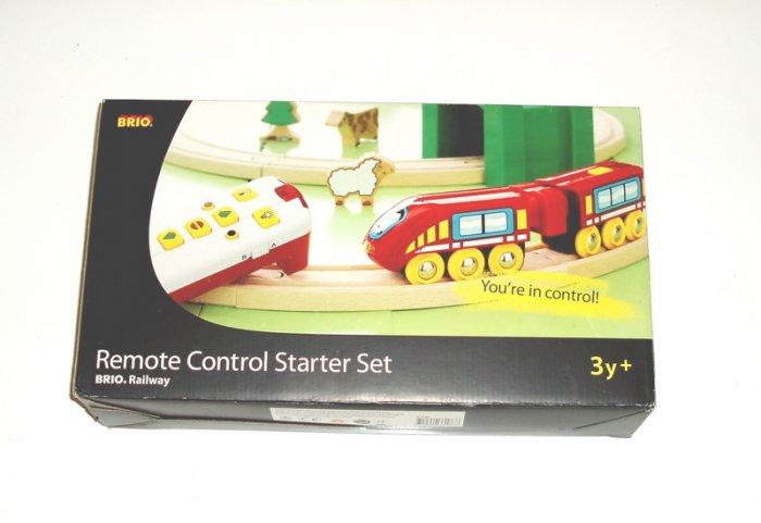 BRIO Remote Control Starter Set Train Wood NEW