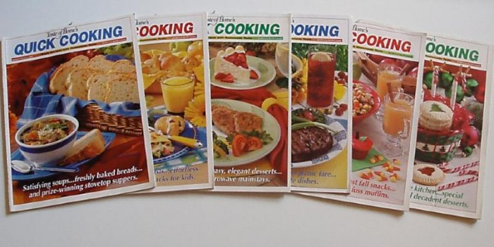 Taste Of Home Quick Cooking 2002 Complete year EUC