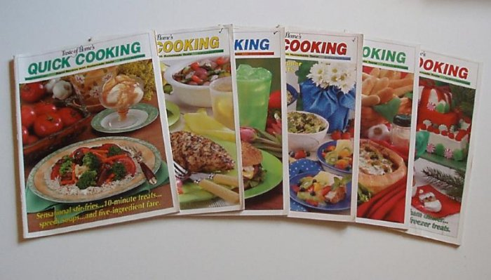 Taste Of Home Quick Cooking 2003 Complete year EUC