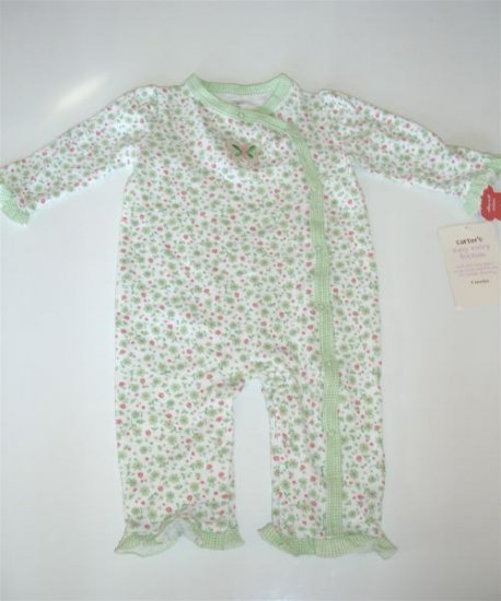 Carters Baby Infant Girl Green Butterlfy Outift 9 m NWT