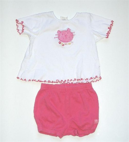 Carters infant baby girl kitty outfit 18-24 m EUC