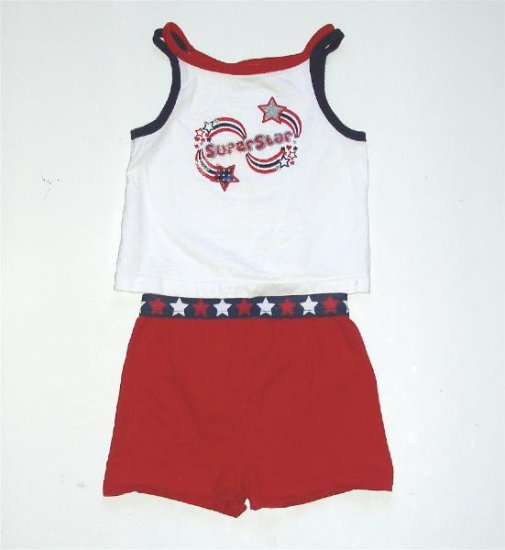 Infant baby Toddler Girl 4th Of July Outfit 24 m EUC