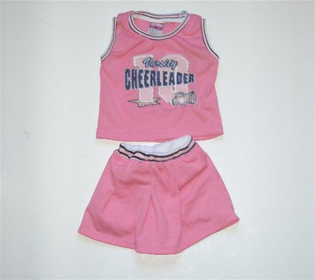 Infant Baby Girk Pink Cheerleader outfit 18m EUC