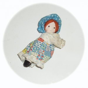 Mini Hollie Hobbie Doll clip on 70's 80s