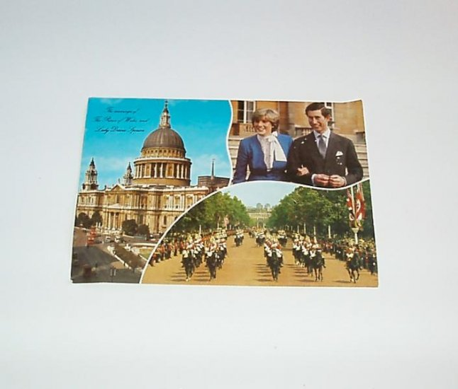 Prince Charles Princess Diana Royal Wedding Post Card