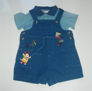 Infant Baby Boy UR it Overall Romper Summer 3/6 NWT