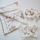 Spanish Spain Table clothe and Napkins Vintage EUC