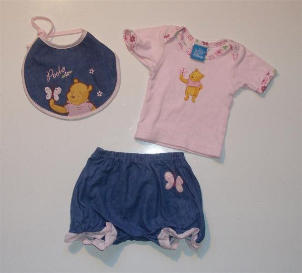 Infant baby Girl Disney Winnie Summer romper 3-6 NWOT