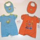 Infant Baby Boy Oke Dokie Summer Romper Lot 3/6m NEW