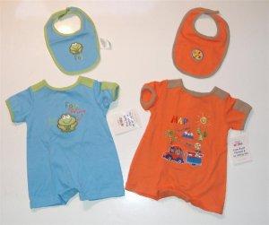 Infant Baby Boy Oke Dokie Summer Romper Lot 3/6m NEW