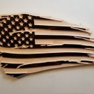 Distressed Carved American Flag - Pine
