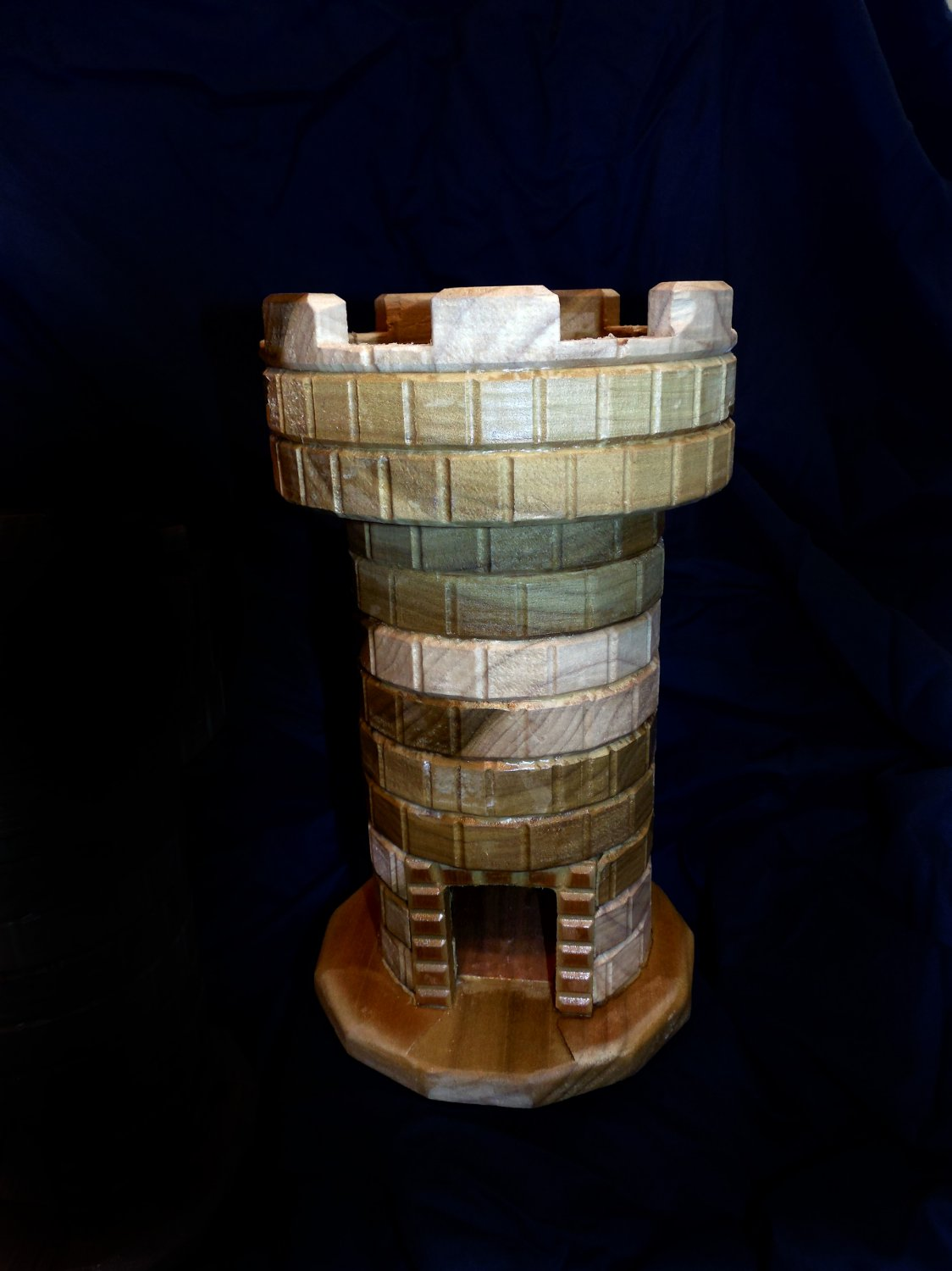 Handmade Wooden Dice Tower - Poplar with Lacquer finish