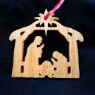Nativity ornament - Red Oak