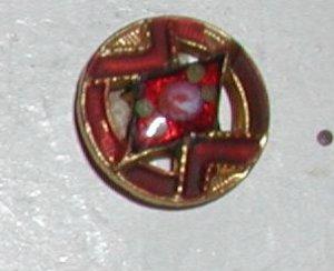 "Antique French Enamel Button 9/32"""