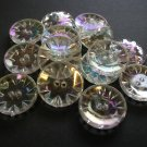 15 Aurora Borealis Faux Crystal Vintage Buttons