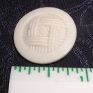 Vintage Imitation Fabric Glass Button 7/8""