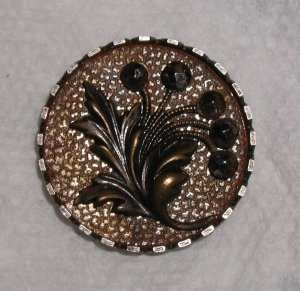 """Large Steel Cup Button 1 1/4"""" Cut Steel Flower Blossoms"""