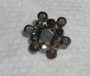 Cut Steel Riveted Star Button 9/16""