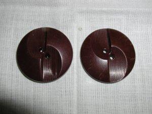 Pair of Vintage Big Plastic Coat Buttons Colt Fire Arms