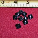9 Matching Dimi Black Glass Square Buttons