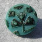 Victorian Turquoise Antique Glass Button