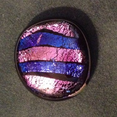 Beautiful Dichroic Hand Made Glass Button #23