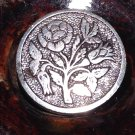 Antique Flat Steel Rose Button