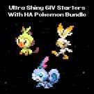6IV  Square Shiny  Galar Starters Pokemon Hidden Abilities Master Balls Bundle