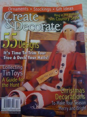 Create & Decorate Magazine Dec 07 Rug Hooking Punch Needle Paint Stitching