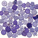 BLUE scrapbooking buttons by Dress It Up/ Jesse James (lot# 006)
